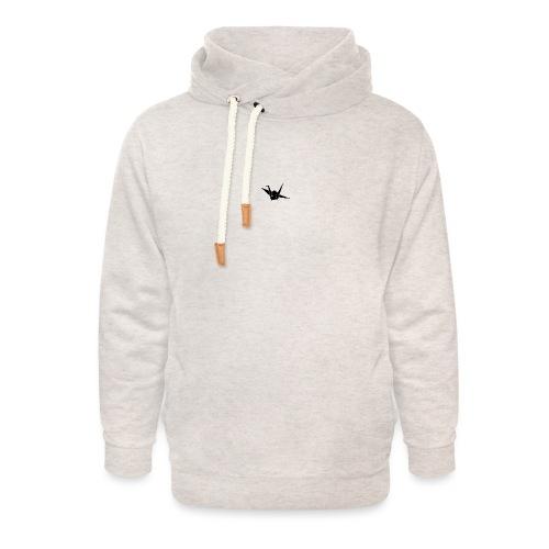 Crane bird - Unisex sjaalkraag hoodie