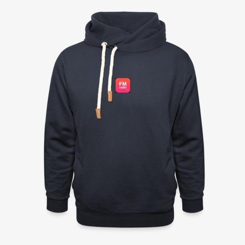 logo radiofm93 - Unisex sjaalkraag hoodie