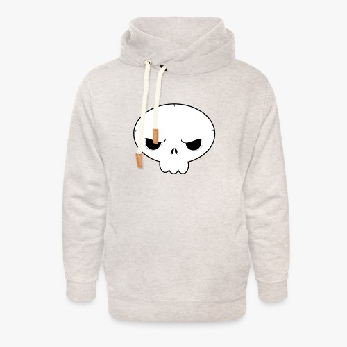 Skullie - Unisex hoodie med sjalskrave