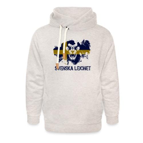 Svenska Lejonet Official Chest Logo - Luvtröja med sjalkrage unisex