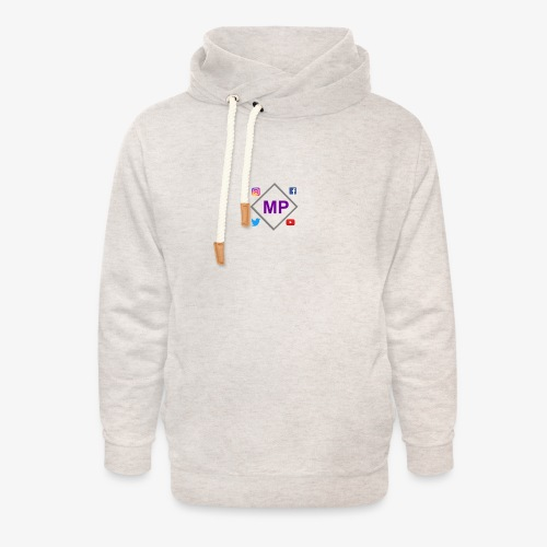 MP logo with social media icons - Unisex Shawl Collar Hoodie