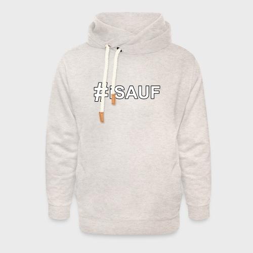 Hashtag iSauf - Unisex Schalkragen Hoodie