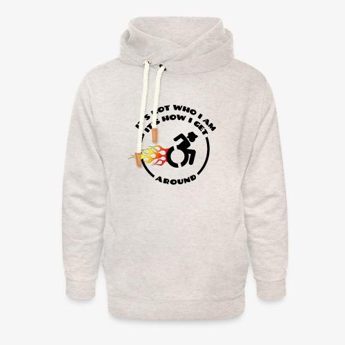 > Rolstoel is niet wie ik ben maar hoe ik beweeg - Unisex sjaalkraag hoodie