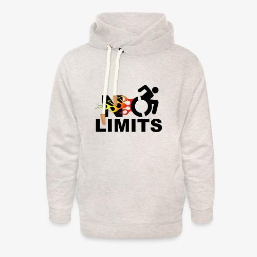 Geen grenzen voor deze rolstoel gebruiker - Unisex sjaalkraag hoodie
