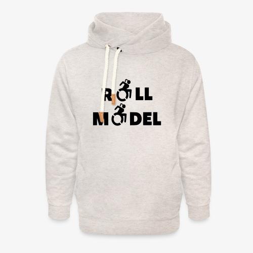 Dame in rolstoel is ook een roll model - Unisex sjaalkraag hoodie