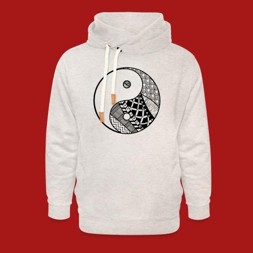 Decorative-Yin-Yang - Unisex hoodie med sjalskrave