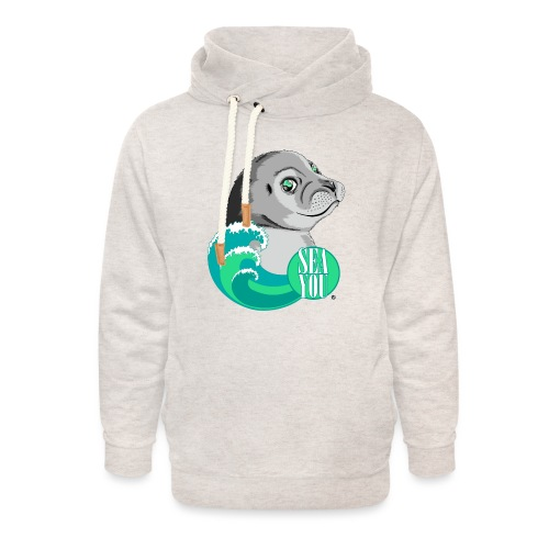 Sea You - Blue Waves - Unisex Schalkragen Hoodie