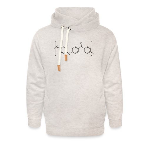 Polyetheretherketone (PEEK) molecule. - Unisex Shawl Collar Hoodie
