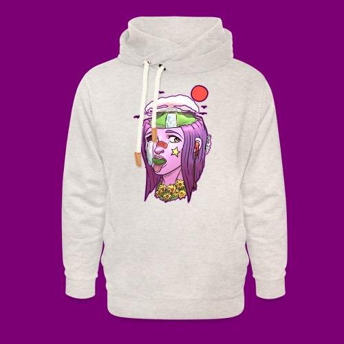 Pink Girl - Unisex sjaalkraag hoodie