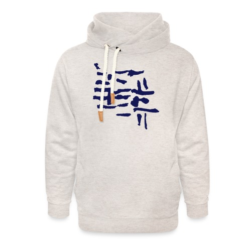 Structure / pattern - VINTAGE abstract - Unisex Shawl Collar Hoodie