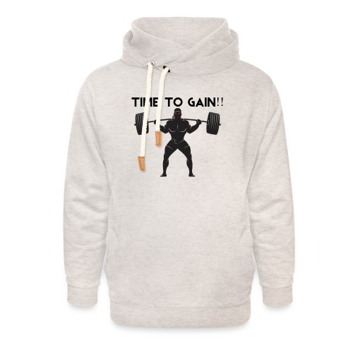 TIME TO GAIN! by @onlybodygains - Unisex Shawl Collar Hoodie
