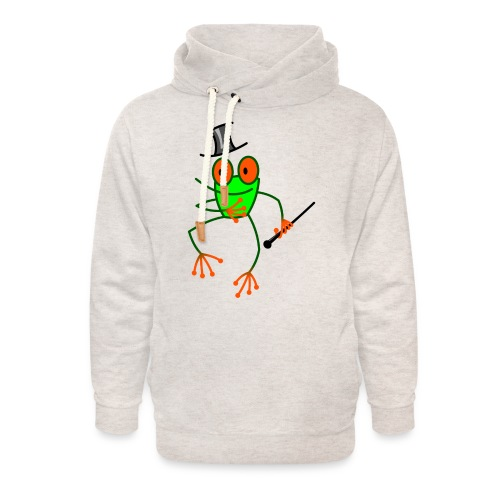 Dancing Frog - Unisex Shawl Collar Hoodie
