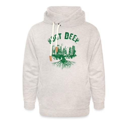 Root deep Urban grün - Unisex Schalkragen Hoodie