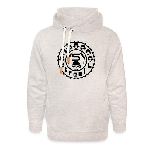 rawstyles rap hip hop logo money design by mrv - Bluza z szalowym kołnierzem unisex
