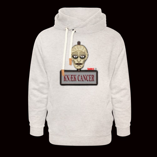 Knæk Cancer Kollektion ! - Unisex hoodie med sjalskrave