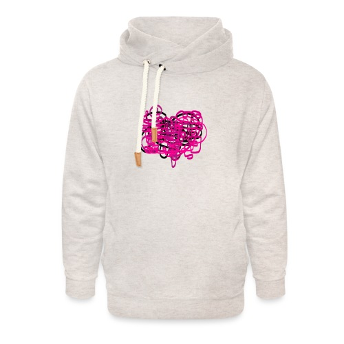delicious pink - Unisex Shawl Collar Hoodie