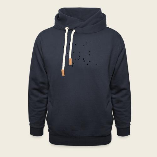 Flying birds - Unisex hoodie med sjalskrave