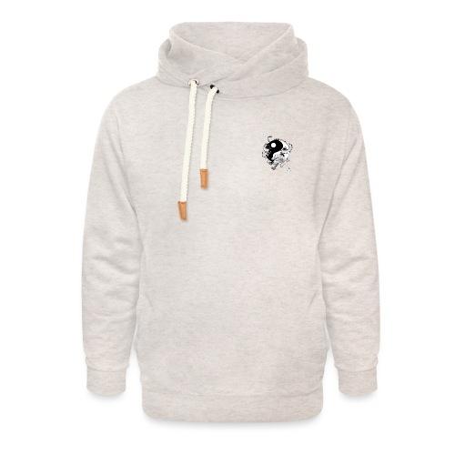 bewegen met passie - Unisex sjaalkraag hoodie
