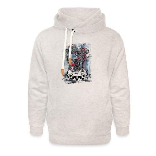 rock n roll skulls - Unisex sjaalkraag hoodie