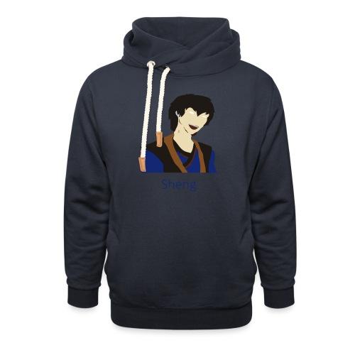 Sheng Canon - Unisex hoodie med sjalskrave