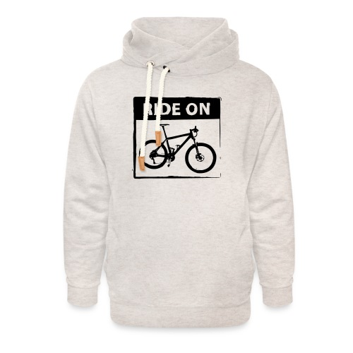 Ride On MTB 1 Color - Unisex Schalkragen Hoodie
