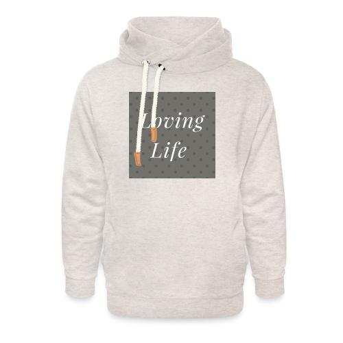 loving life top - Unisex Shawl Collar Hoodie
