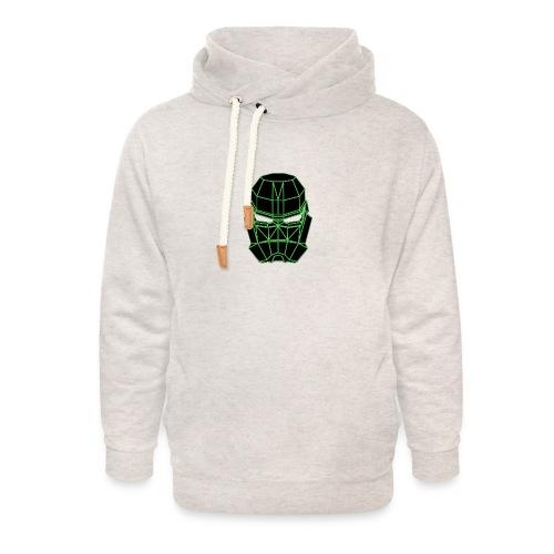 vert masque spatial - Sweat à capuche cache-cou unisexe