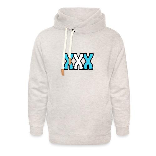 XXX (Blue + White) - Unisex Shawl Collar Hoodie