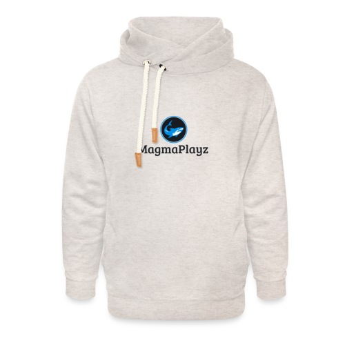 MagmaPlayz shark - Unisex hoodie med sjalskrave