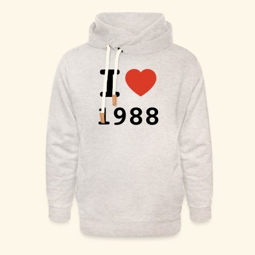 I Love 88 b 001 - Unisex Schalkragen Hoodie