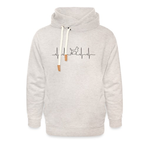 dog - Unisex sjaalkraag hoodie