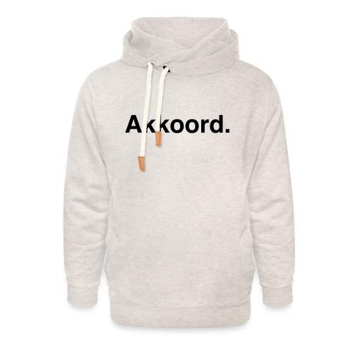 Akkoord - Unisex sjaalkraag hoodie