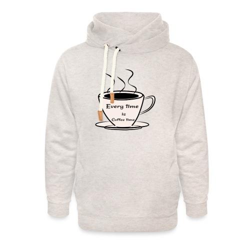 kaffe - Luvtröja med sjalkrage unisex