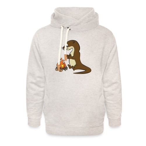 Song of the Paddle; Quentin campfire - Unisex Shawl Collar Hoodie