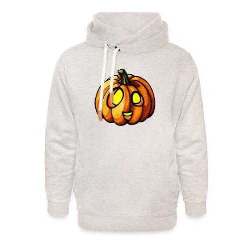 Pumpkin Halloween watercolor scribblesirii - Unisex hoodie med sjalskrave