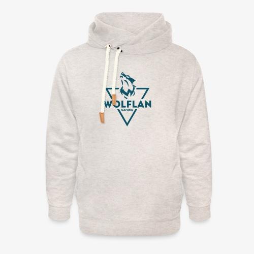 WolfLAN Logo Gray/Blue - Unisex Shawl Collar Hoodie