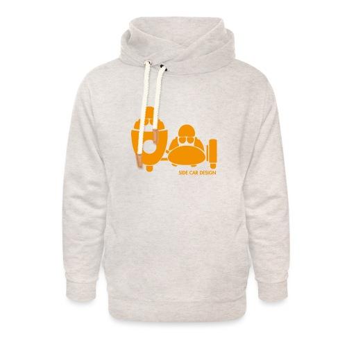 BASSET LOGO orange - Sweat à capuche cache-cou unisexe