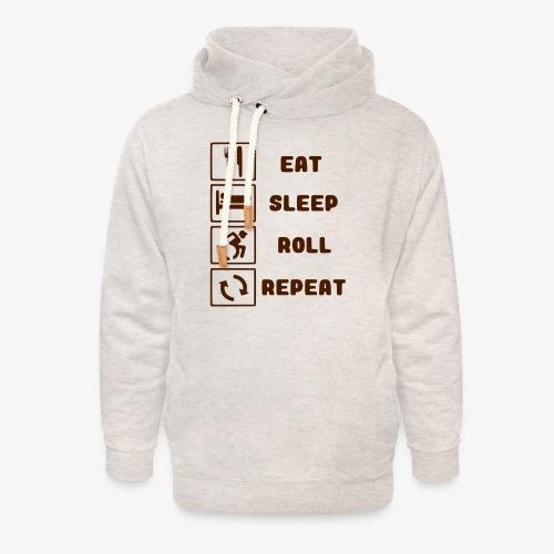 >Eten, slapen, rollen met rolstoel en herhalen 001 - Unisex sjaalkraag hoodie