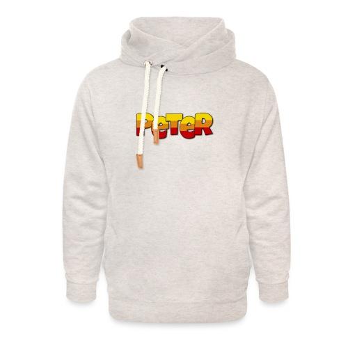 Peter LETTERS - Unisex sjaalkraag hoodie
