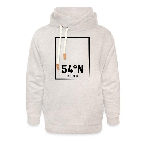 54°Nord square t-shirt - Unisex hoodie med sjalskrave