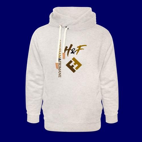h&F luxury style - Felpa con colletto alto unisex