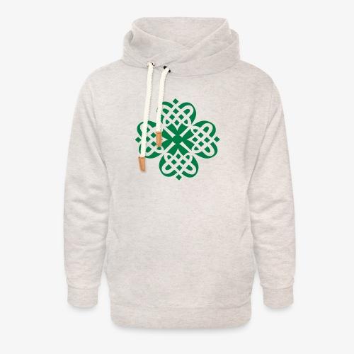 Shamrock Celtic knot decoration patjila - Unisex Shawl Collar Hoodie