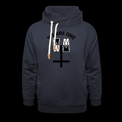 WE ARE ONE x CROSS - Unisex sjaalkraag hoodie