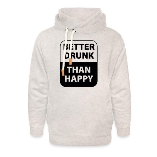 mieux ivre qu'heureux - Sweat à capuche cache-cou unisexe
