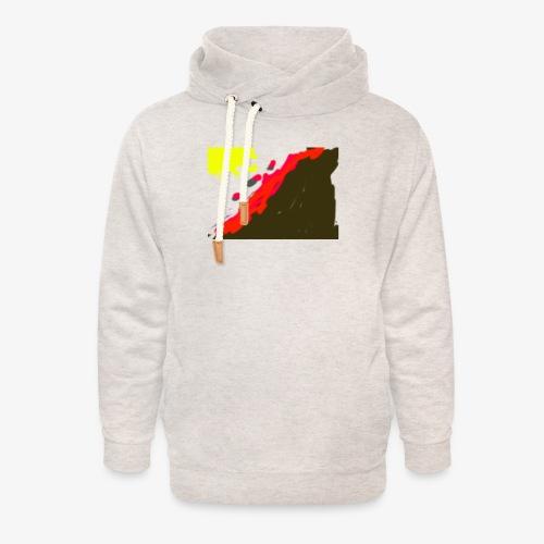 flowers - Unisex hoodie med sjalskrave
