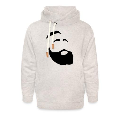 Il Barba, the Beard black - Felpa con colletto alto unisex
