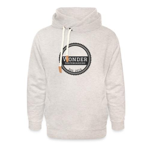 Wonder unisex-shirt round logo - Unisex hoodie med sjalskrave