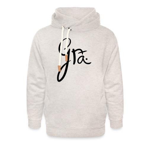 logo-trans-ai - Unisex sjaalkraag hoodie