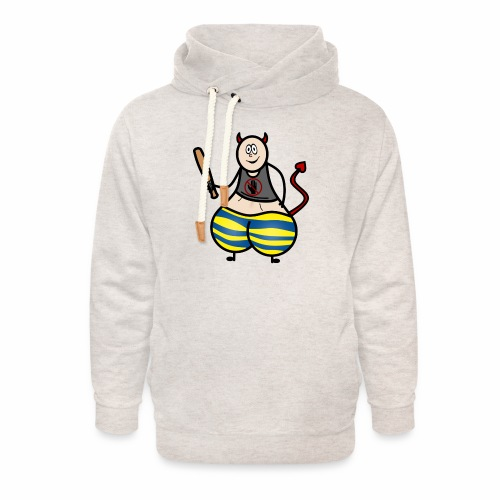 Devil No Touchies Charlie - Unisex Shawl Collar Hoodie