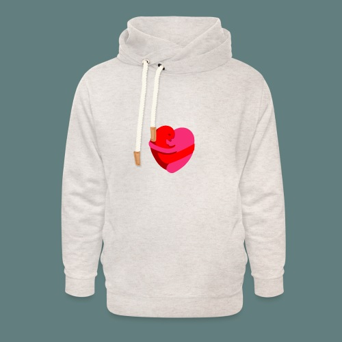 hearts hug - Felpa con colletto alto unisex